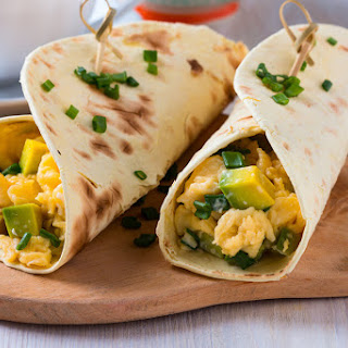 Cheesy Avocado Wrap