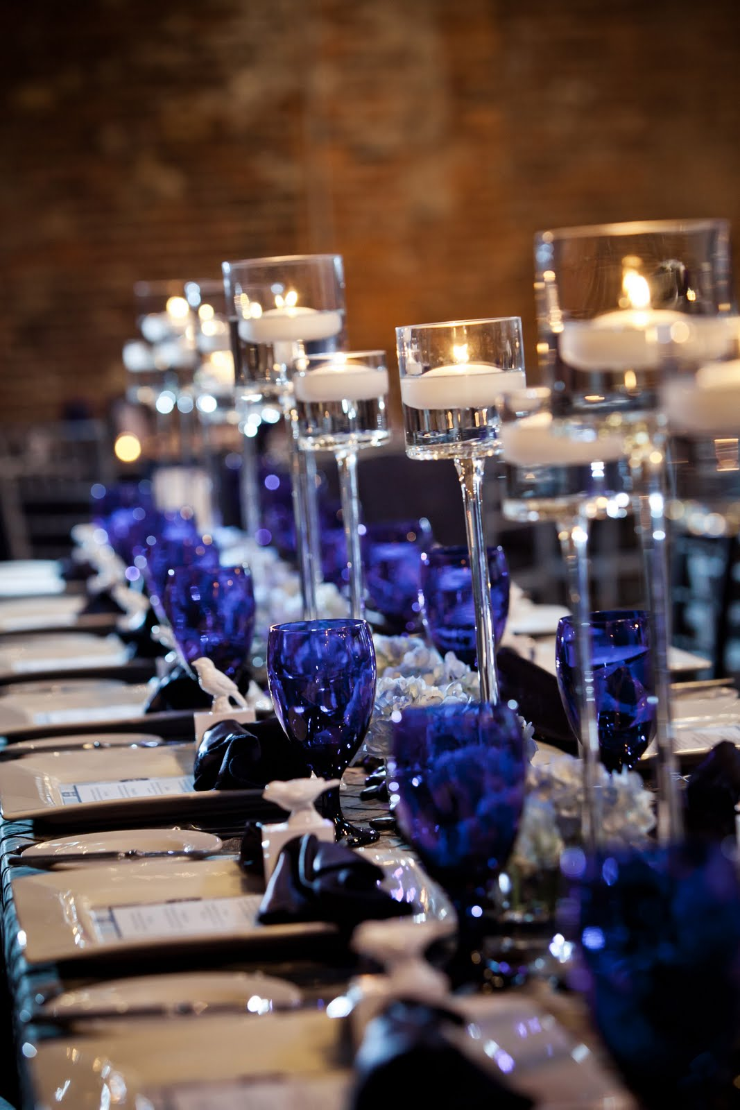 Blue And Silver Wedding Reception Decorations Boba S