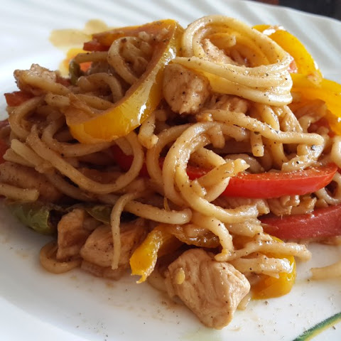 Pepper Chicken Noodles