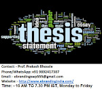 5.Top Quality Custom PhD Thesis Writing Services in Bhopal
