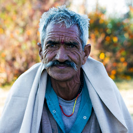Wrinkles or Experience by Ankit Mohan - People Portraits of Men ( wrinkles, old man, men, people, portrait )