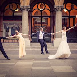 Carried Away by Adam Beniston - Wedding Groups ( bride, groom, carriedaway, bridalparty, wedding, steps )