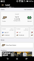Screenshot of PurdueSports.com Gameday LIVE