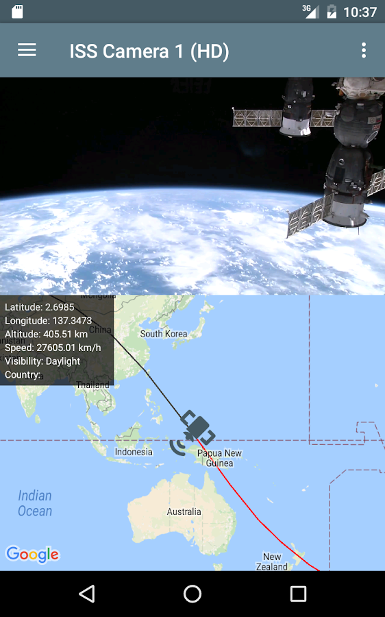 ISS Live - HD Earth viewing and NASA library Screenshot 13