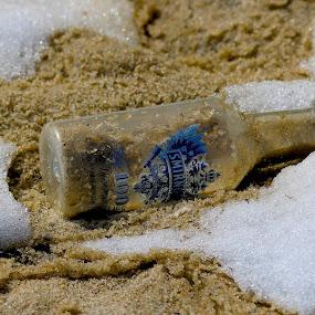 Beach bottle by Cheryl Thomas - Uncategorized All Uncategorized ( sand, snow, ocean, beach, bottle, found,  )