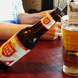 It's beer-thirty in Texas! by Don Bates - Food & Drink Alcohol & Drinks ( steak house, beverage, restaurant, dinner, beer )