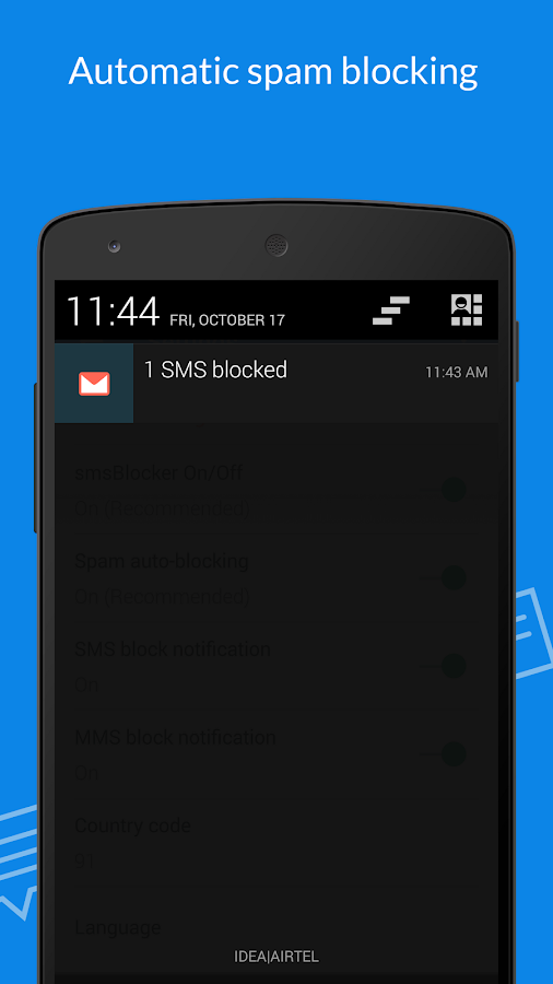 #1 SMS Blocker. Award winner! Screenshot 1
