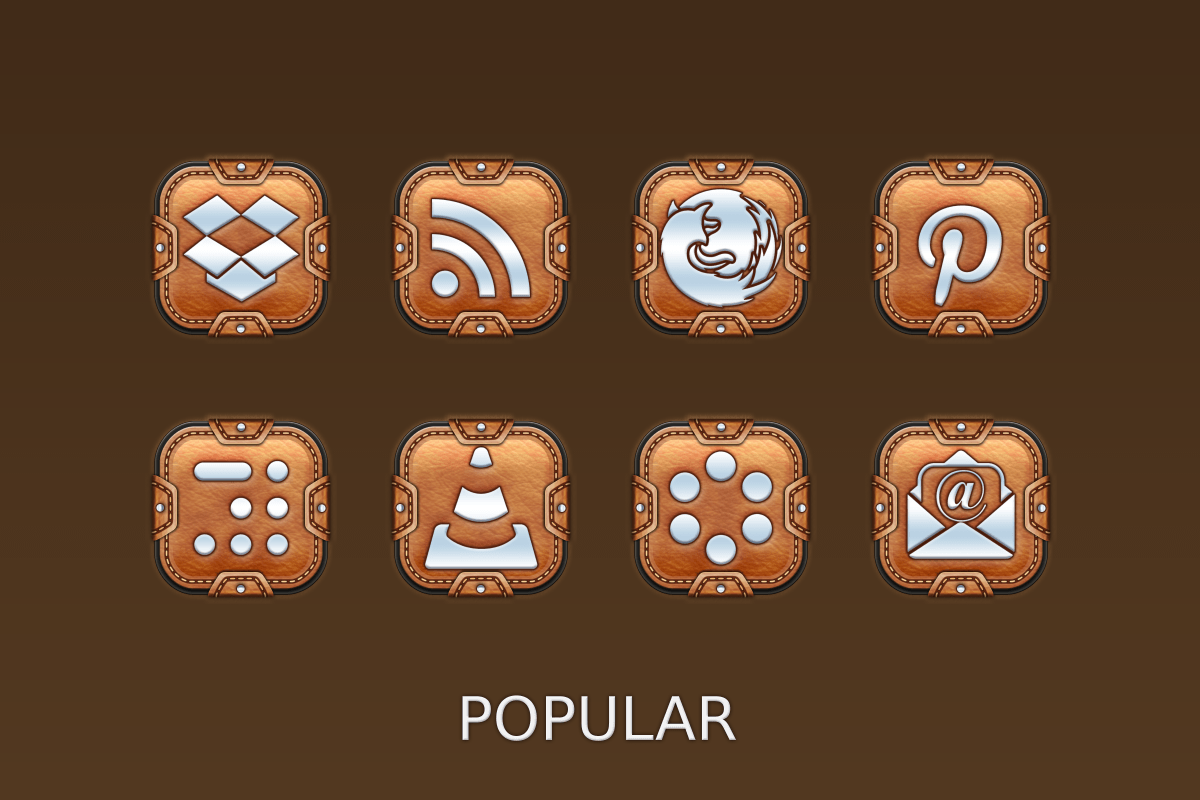 Leather Pouch-Icon Pack Screenshot 8