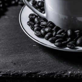 coffee bean by Amy Hawker - Food & Drink Alcohol & Drinks ( studio, cup, black and white, drink, coffee )