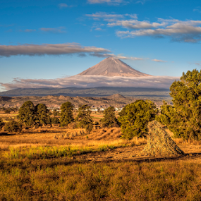 Field and Volcano in the morning by Cristobal Garciaferro Rubio - Landscapes Travel ( volcano, mexico, puebla, popocatepetl, morning )