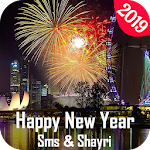 Happy New Year SMS & Shayari - New Year Greetings Icon
