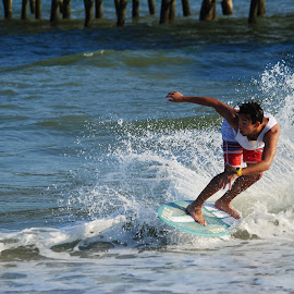 Skimboarder by Prentiss Findlay - Sports & Fitness Watersports ( skimboard, ocean, beach, surf, skimboarder )
