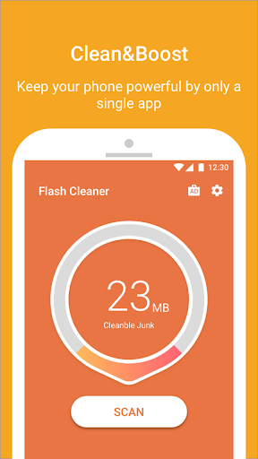 Flash Cleaner-Booster,Junk Cleaner & Battery Saver For PC