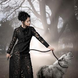Anjellina and Wolf by Xavier Wiechers - Digital Art People