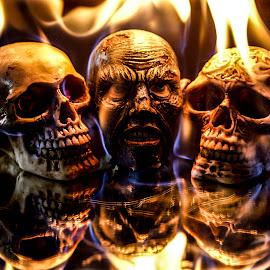 Burning Heads by D.M. Russ - Artistic Objects Other Objects