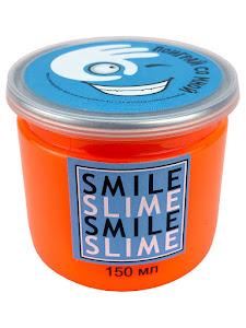 Слайм-лизун Медуза оранжевый неон, 150 мл.