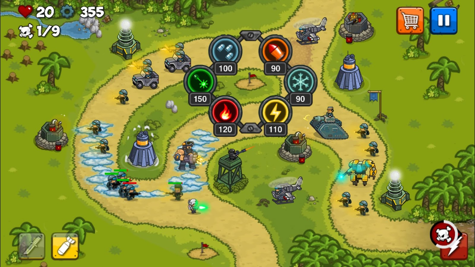 Combat Tower Defense Screenshot 2