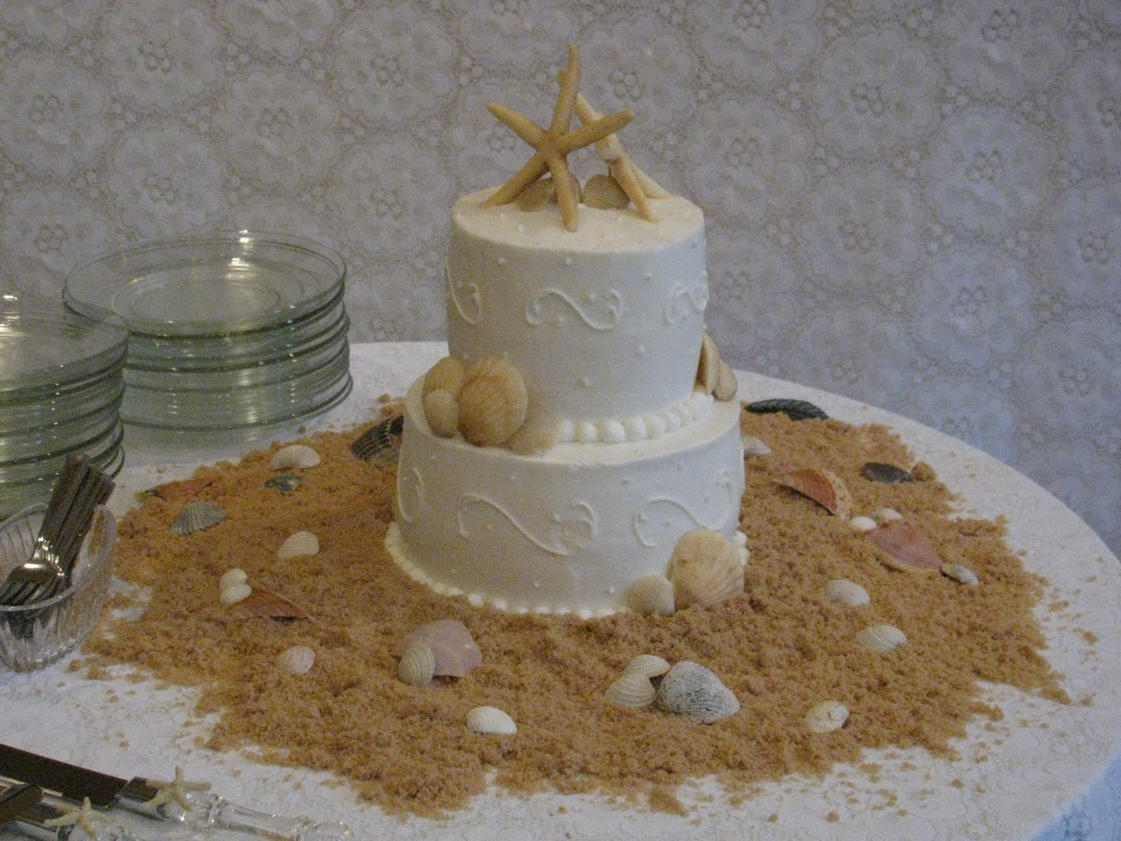 Beach Wedding Cake / Keller