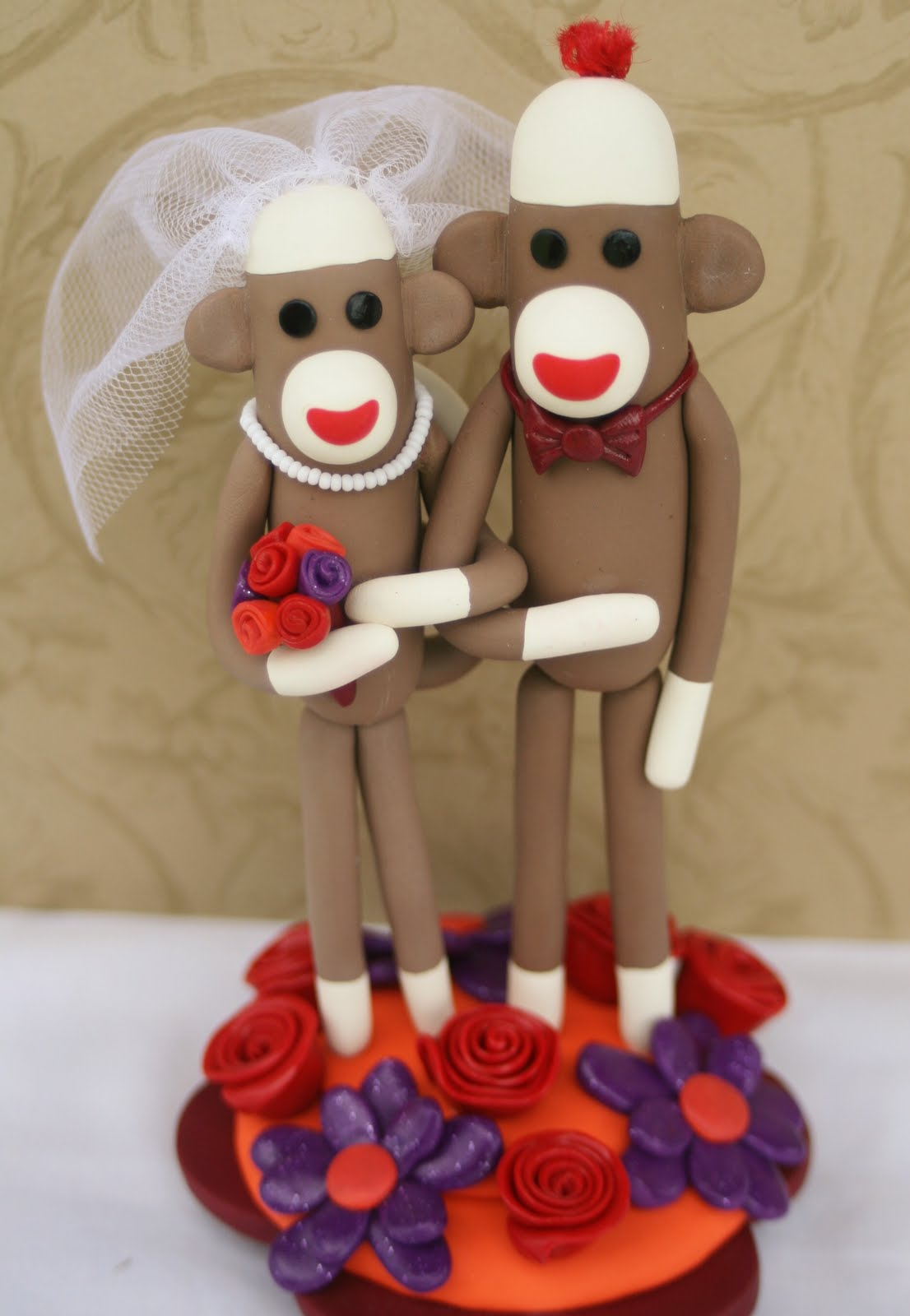 Autumn Sock Monkey Wedding
