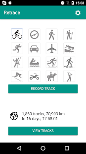 Retrace Fitness app screenshot for Android