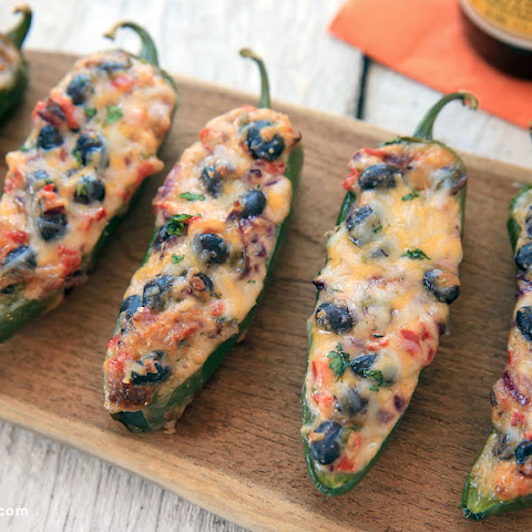Bean and Cheese Jalapeño Poppers