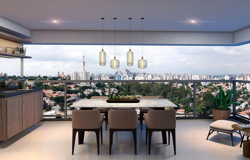Perspectiva do Terraço de 78 m²