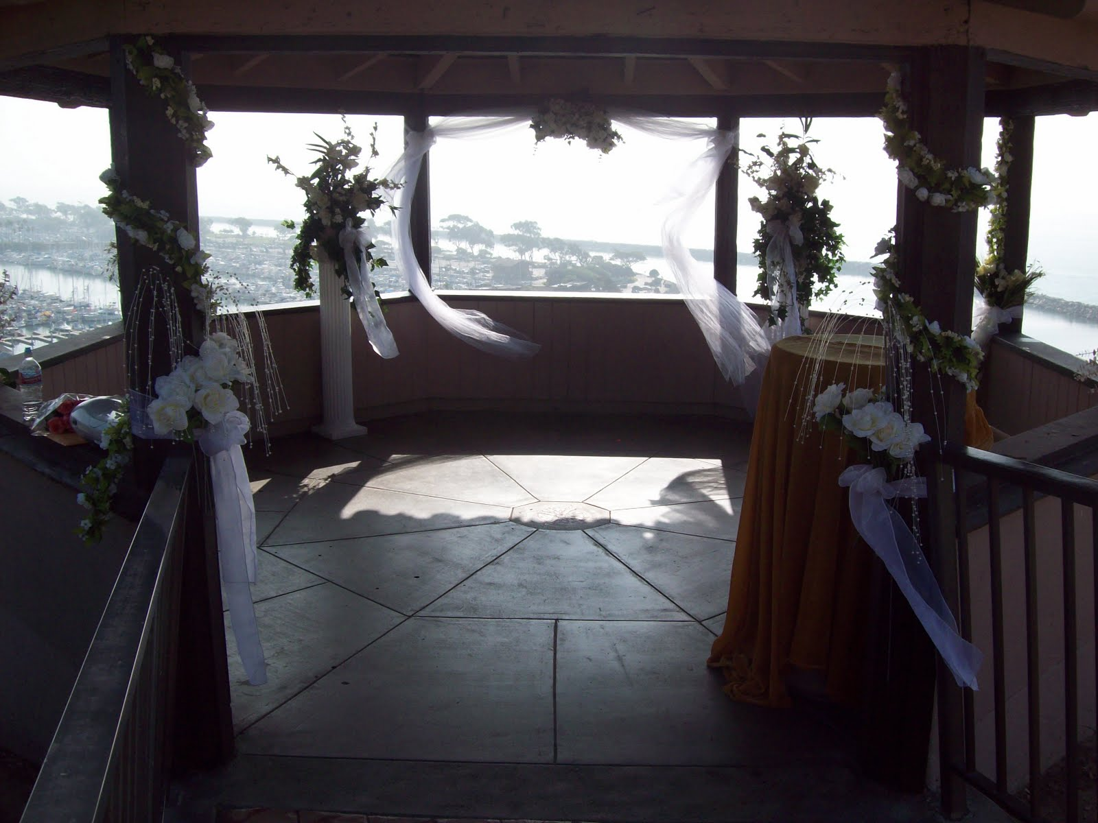 beach wedding gazebo with