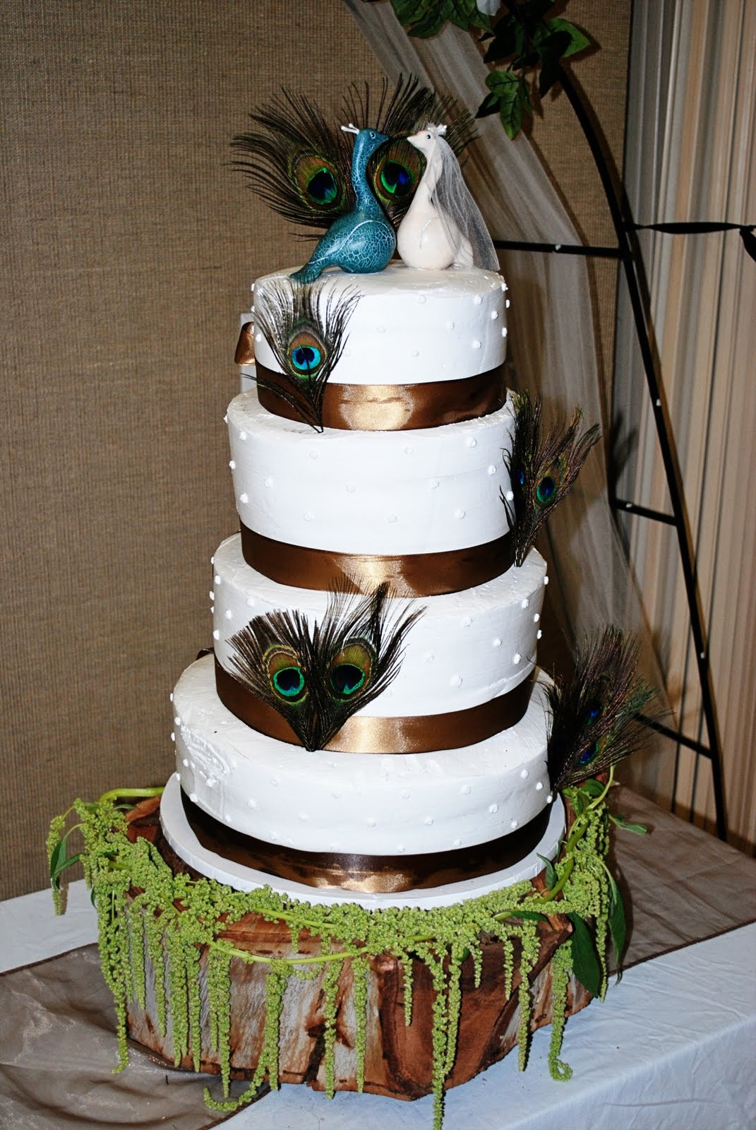 Peacock Wedding Cake With