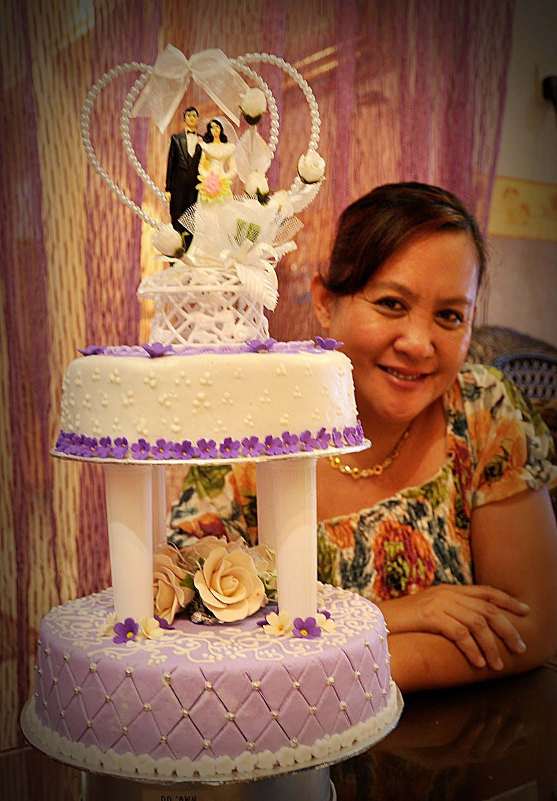 Joy s blog 2 tier Wedding Cakes Purple