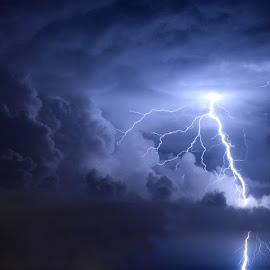 Lightning by Tony Bendele - Landscapes Weather ( lightning, thunderstorm, supercell, storm )