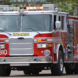 Ramona Fire Engine by Jesse Thrush - Transportation Automobiles ( firefighter, truck, california, ramona, cal fire, fire )