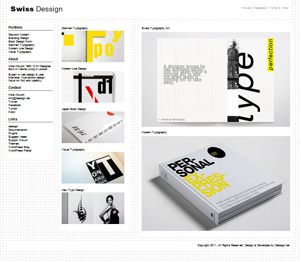 Swiss design and layout
