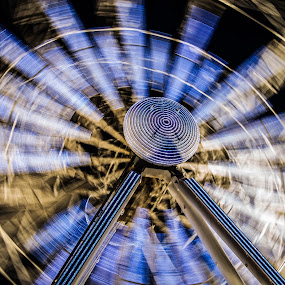 Ferris Wheel Motion by Sinclair Parkinson - City,  Street & Park  Amusement Parks ( mare, canon, ferris, wheel, sinclair parkinson, avon, canon 7d, super, 7d, fat spanner photography, fairground, long exposure, weston, night, motion, light, , city at night, street at night, park at night, nightlife, night life, nighttime in the city )