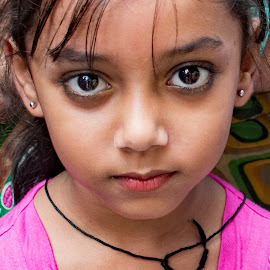 by Doug Hilson - Babies & Children Child Portraits ( portraoit, little girl, india, eyes, child )