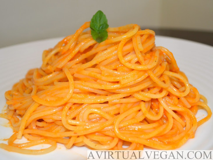 Pasta With Roasted Red Pepper Sauce Recipes — Dishmaps