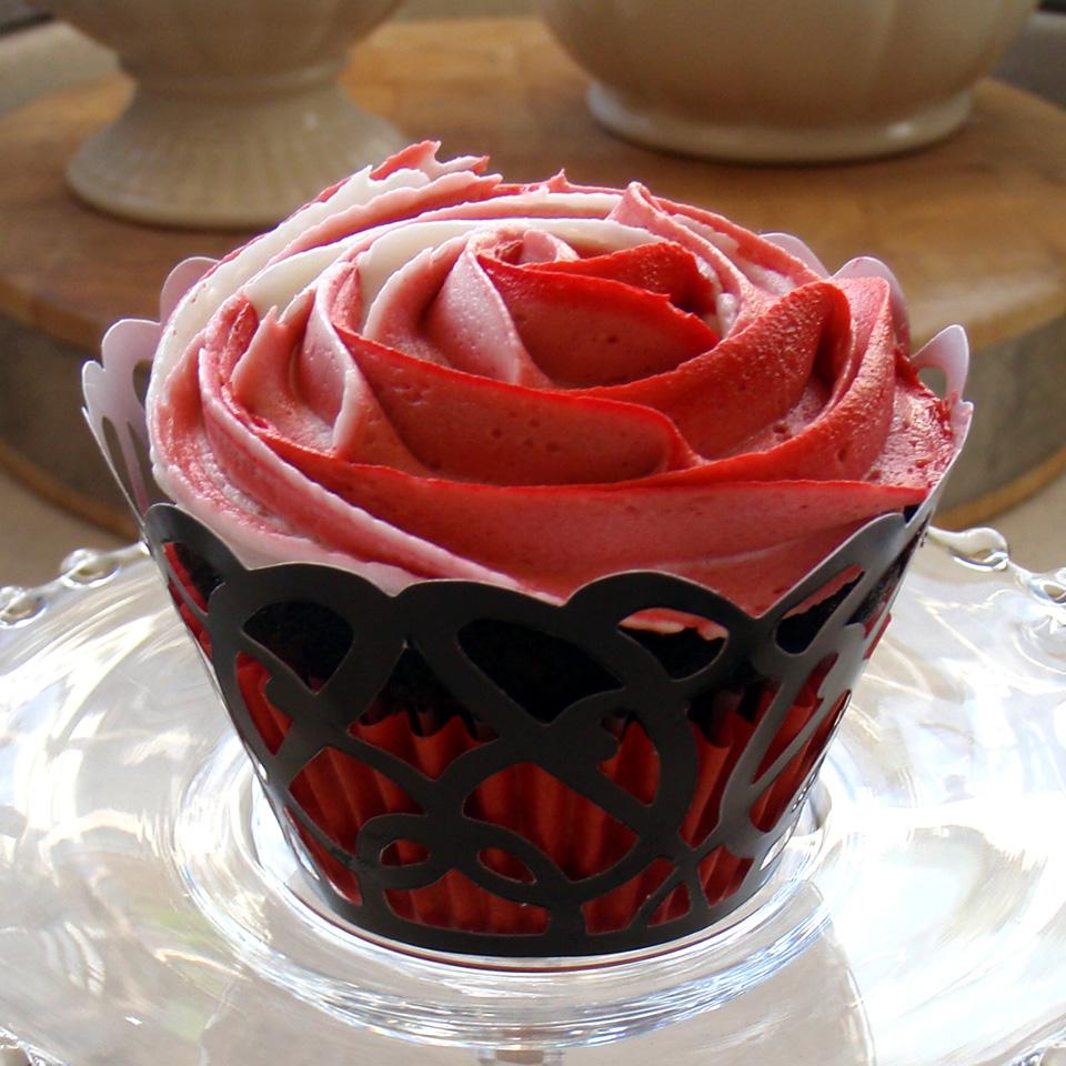Rose Cupcake Wedding Cake