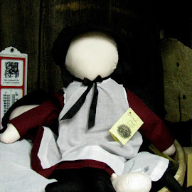 Amish Doll by Christine B. - Artistic Objects Toys ( amish, face, doll, apron )