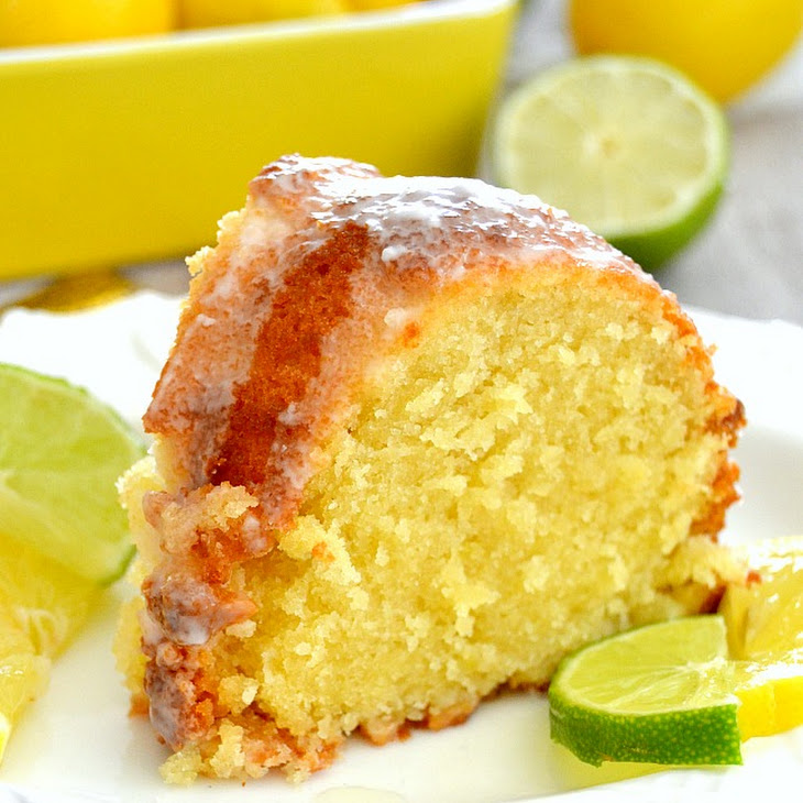 Lemon Pound Cake Glaze Powdered Sugar