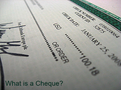 Cheque and types of cheques