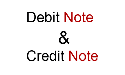 debit note credit note