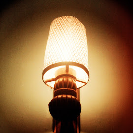 Bamboo Lamp by Ahmad Bayyudh Attamimi - Artistic Objects Furniture ( old, bamboo, artistic, lamp, glowing, furniture )