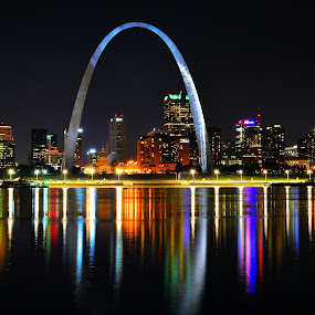 Saint Louis by Travis Houston - City,  Street & Park  Night (  )