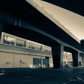 Lifeless by Jean Plessis - City,  Street & Park  Street Scenes ( urban, johannesburg, street, bridge, city )