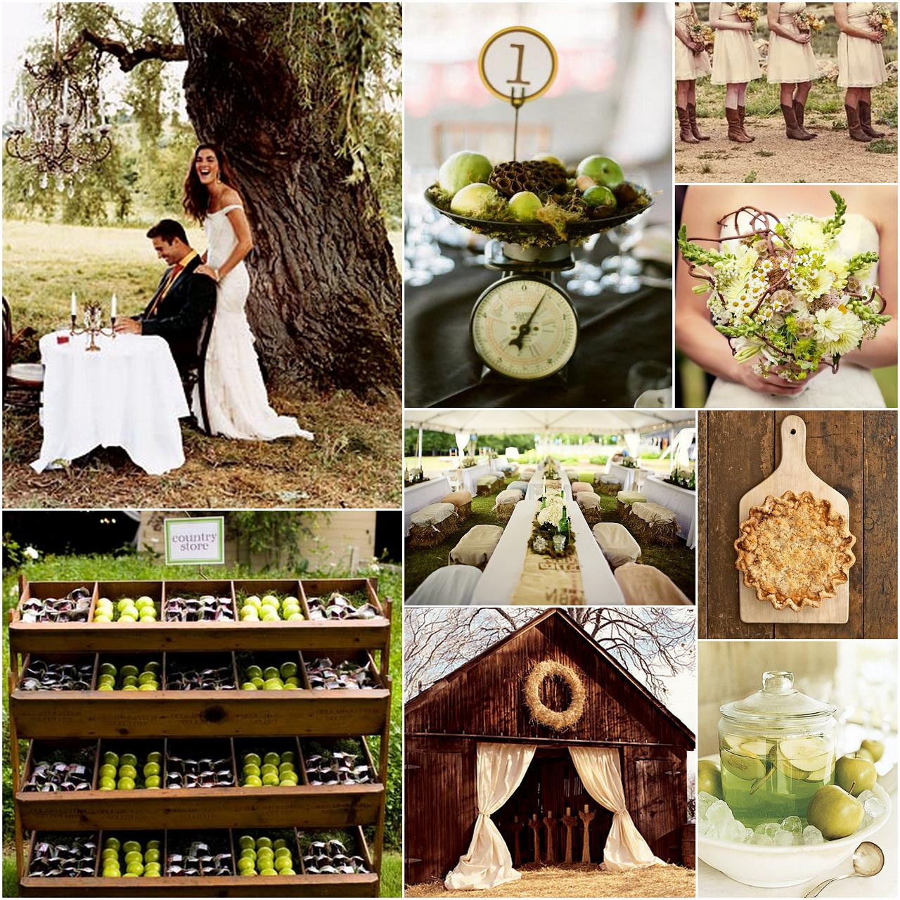 FOODS country wedding pics