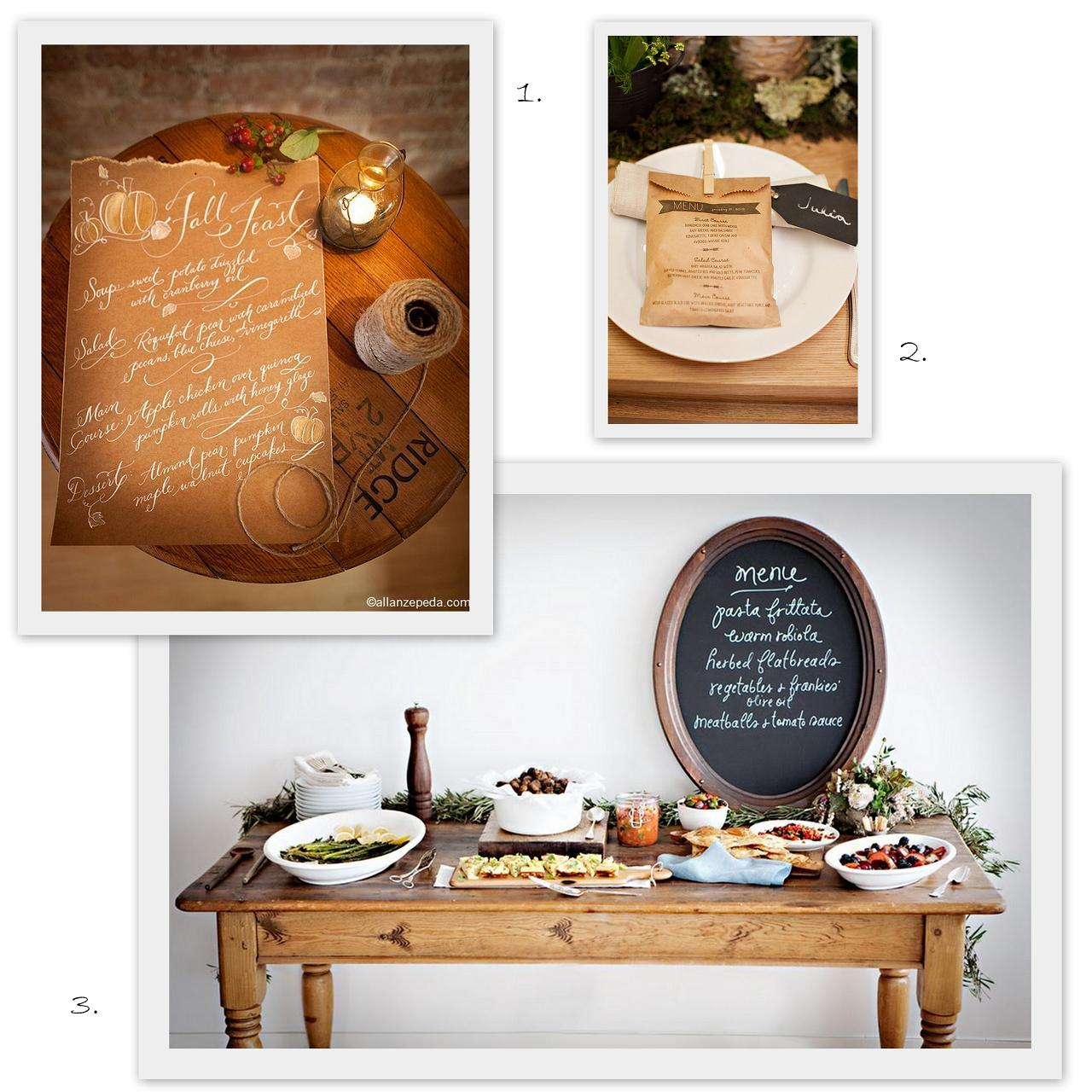 menu design ideas, Wedding