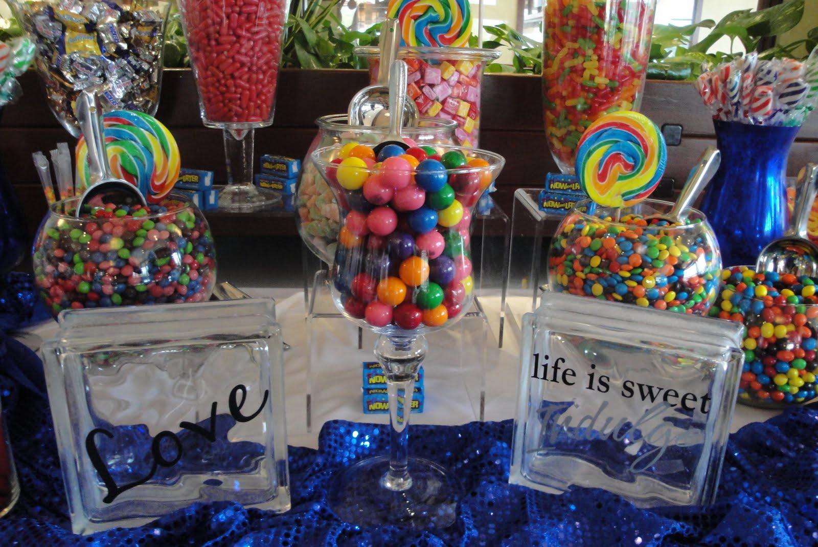 Blue Candy Buffet Bar- & Zilphau0027s blog: canopy wedding events
