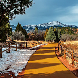 Yellow Brick Road by James Martinez - Transportation Other ( fence, mountain, park, trail, hiking )