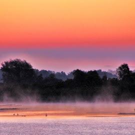 Manistee Lake by Linda Woodworth Sulla - Landscapes Sunsets & Sunrises (  )