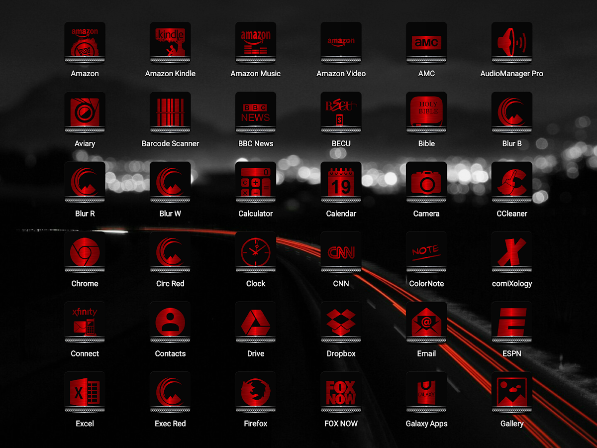 Exec Red Icon Pack Screenshot 13