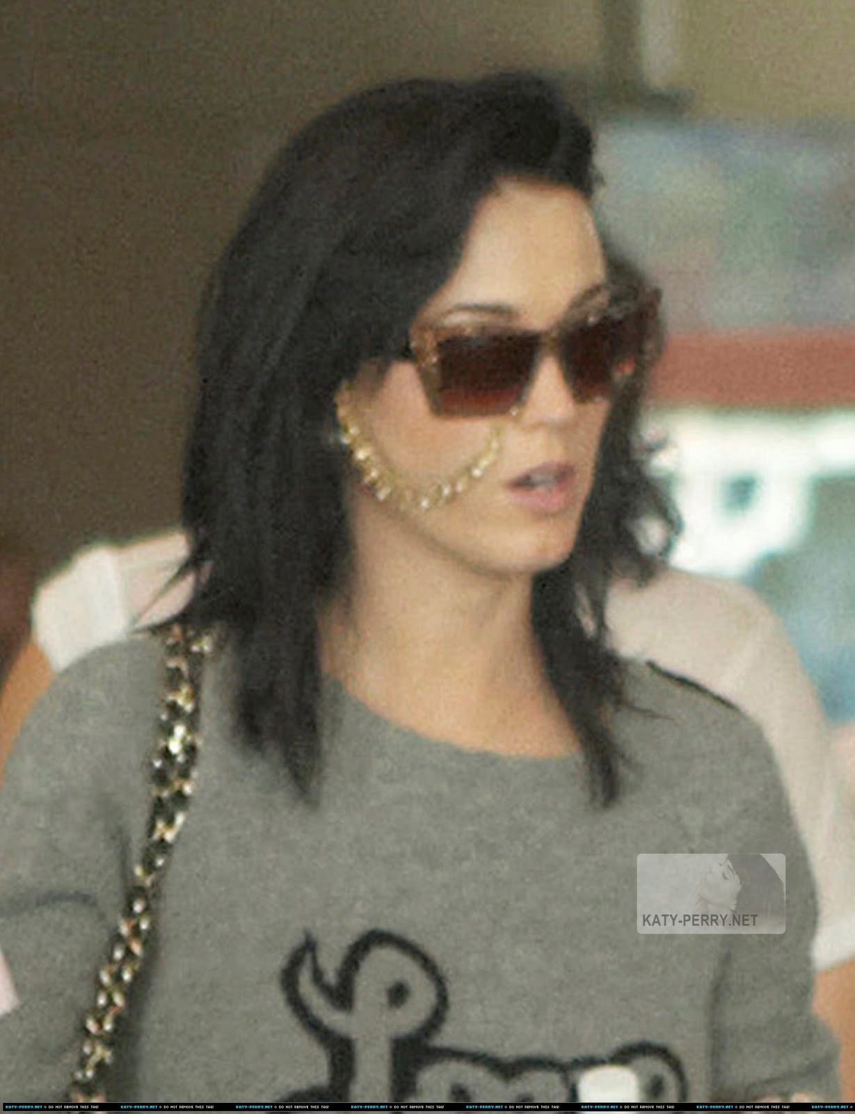 Katy wearing the glasses